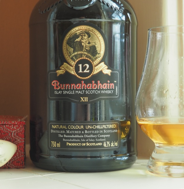 Bunnahabhain 12 and glass
