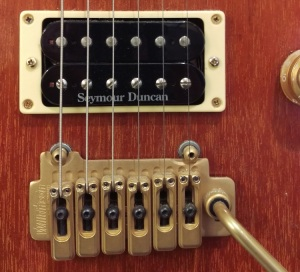 Seymour Duncan JB pickup, in situ.