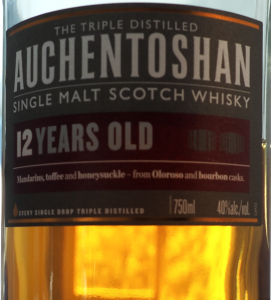 Auchentoshan 12 label detail