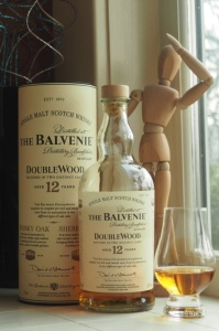 Balvenie's DoubleWood 12-year-old is tastefully presented.